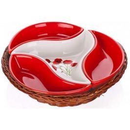 Banquet Sada misek v košíku Red Poppy 4 díly