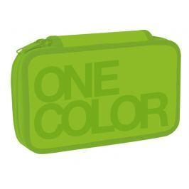Stil Školní penál dvoupatrový One Colour zelený