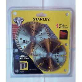 Stanley Diamantový kotouč segmentový na beton/cihly 115x22,2mm, sada 2ks