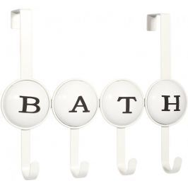 Time Life Věšák na dveře Bath, 4 háčky, bílá