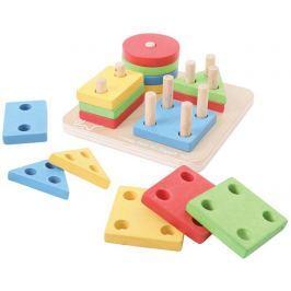 Bigjigs Toys Nasazování tvarů na tyče
