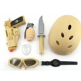 Teddies Vojenský set s helmou 7 ks
