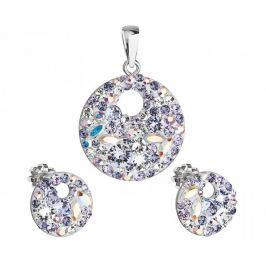Evolution Group Elegantní souprava šperků Violet 39148.3 stříbro 925/1000