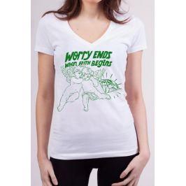 KlokArt dámské tričko Bella + Canvas S bílá
