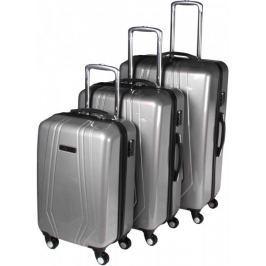 Leonardo Sada kufrů Trolley stříbrná