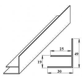 LanitPlast PVC okrajový F-profil 16 mm bílý 6 m