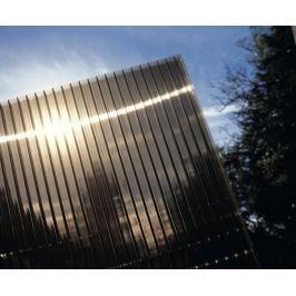LanitPlast Polykarbonát komůrkový 6 mm bronz - 2 stěny - 1,3 kg/m2 1,05x1 m