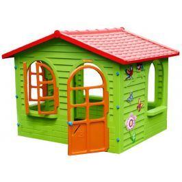 Mochtoys Zahradní domek s červenou střechou