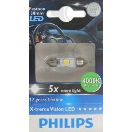 Philips Žárovka typ C5W, 12V, 1W, X-tremeVision LED 4000K bílá