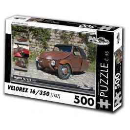 RETRO-AUTA© Puzzle č. 55 - VELOREX 16/350 (1967) 500 dílků