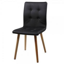 Design Scandinavia Jídelní židle Fredy (SET 2 ks), černá kůže