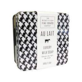 Scottish Fine Soap Tuhé mýdlo v plechové krabičce Au Lait 100 g