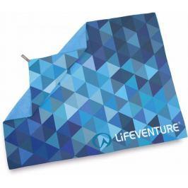 Lifeventure Printed SoftFibre Trek Towel blue triangles