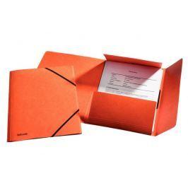 Mapa odkládací se 3 klopami prešpán s gumičkou Esselte oranžová
