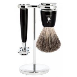 Mühle Rytmo sada na holení, Pure Badger, žiletka, Black