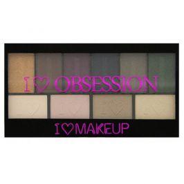 Makeup Revolution Paletka 10 očních stínů West End Girls I LOVE MAKEUP (Obsession Palette West End Girls) 17 g