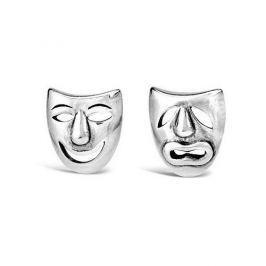 Silvego Stříbrné náušnice divadelní masky PRM11187 stříbro 925/1000