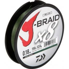 Daiwa Splétaná Šňůra J-Braid Dark Green 300 m 0,28 mm, 26,5 kg