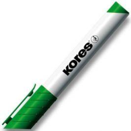 Značkovač Kores na bílé tabule a flipcharty zkosený hrot zelený