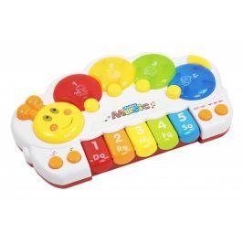 Let's play Dětské klávesy ve tvaru housenky se zvuky a světly