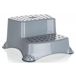 keeeper Stolička - dvojschůdek 40 x 37 x 21 cm šedá