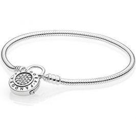 Pandora Stříbrný náramek s třpytivým zámkem 597092CZ (Délka 18 cm) stříbro 925/1000