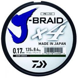 Daiwa Splétaná Šňůra J-Braid 4 Žlutá 270 m 0,13 mm, 5,9 kg