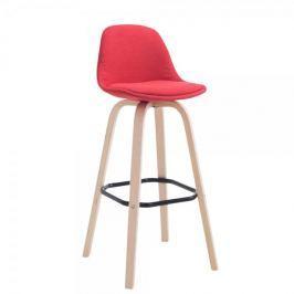 BHM Germany Barová židle Mikael textil, červená