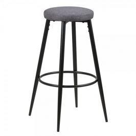 Design Scandinavia Barová židle s kovovou podnoží Heros (SET 2 ks), šedá