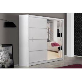 Šatní skříň s posuvnými dveřmi VISTA 203, bílá