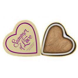 Makeup Revolution Srdcový bronzer Letní I LOVE MAKEUP (Hearts Bronzer Summer of Love) 10 g