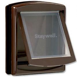 Staywell dvířka s transparentním flapem střední hnědá - II. jakost