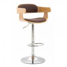 BHM Germany Barová židle Gota textil, přírodní, hnědá