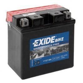 Exide bezúdržbová AGM baterie  ETZ7-BS, 12V 6Ah, za sucha nabitá. Náplň součástí balení.