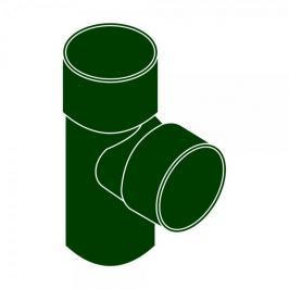 LanitPlast Odbočka svodu 87°DN 90/53 zelená barva