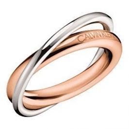 Calvin Klein Bicolor ocelový prsten Double KJ8XPR2001 (Obvod 55 mm)