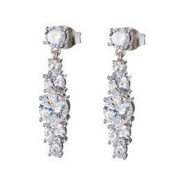 Preciosa Stříbrné náušnice s krystaly Love Heart 6874 00 stříbro 925/1000