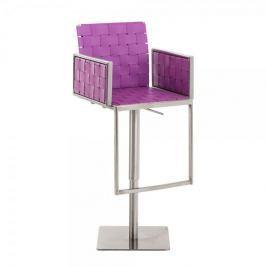 BHM Germany Barová židle nerezová Peter, fialová