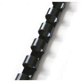 Hřbet pro kroužkovou vazbu 25 mm černý / 50 ks