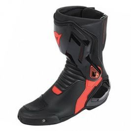 Dainese boty NEXUS vel.41 černá/fluo červená, kůže/textil (pár)