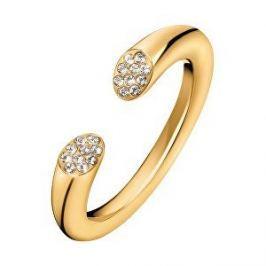 Calvin Klein Otevřený pozlacený prsten s krystaly Brilliant KJ8YJR140100 (Obvod 55 mm)