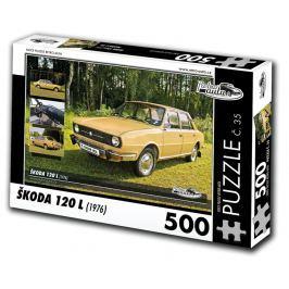 RETRO-AUTA© Puzzle č. 35 - ŠKODA 120 L (1976) 500 dílků