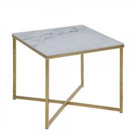 Design Scandinavia Konferenční stolek hranatý Alma, 50 cm, zlatá
