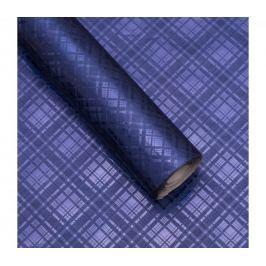 Luxusní strukturovaný balicí papír, tmavě modrý, vzor károvaný, 5 archů