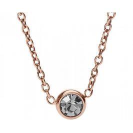 Fossil Bronzový náhrdelník s krystalem JF02533791