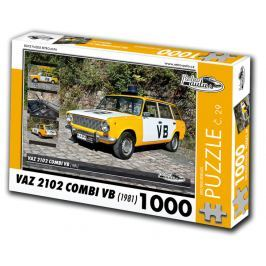 RETRO-AUTA© Puzzle č. 29 - VAZ 2102 COMBI VB (1981) 1000 dílků