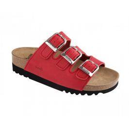 Scholl Zdravotní obuv RIO WEDGE AD - červená (Velikost vel. 36)