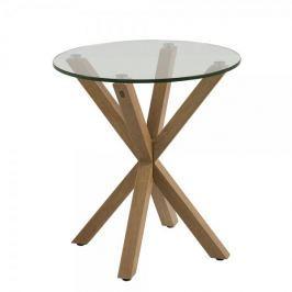 Design Scandinavia Konferenční / noční stolek Skyline, 50 cm, dub/čirá