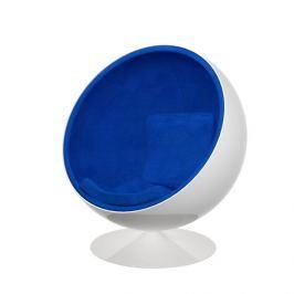 Mørtens Furniture Otočné křeslo Sphere, modrá