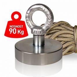 Supermagnet 90 kg - set s lanem